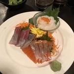 海鮮個室居酒屋 魚将 - 本日のお刺身 3種盛り合わせ