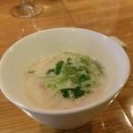79463335 - ハマグリと玉葱のクリームスープ