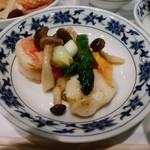 79463426 - 大海老とホタテの青唐辛子炒め