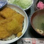 とんかつ 三条 - キャベツ 100円    チキンタレカツ丼 910円