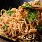 濃厚担担麺 博多 昊 - もうひとつの看板。特製タレがよく絡む『汁なし胡麻担担麺』