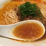 鳴龍 - 牡蠣などのお出汁濃厚なスープ