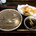 朋 - つけ鴨汁そば + かき揚げ野菜  ¥900+150-