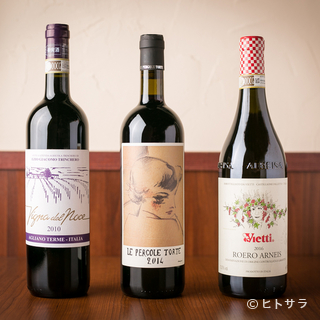 料理に寄り添うイタリアワインから、食後酒まで