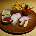 79469637 - 野菜のバーニャカウダ 1058円