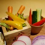 越後酒房 八海山 - 野菜のバーニャカウダ 1058円