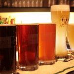 ビーボ! ビア アンド ダイニングバー - 色どり豊富なビールたち!ホワイト、ペール、アンバー、ブラウン、黒など気分で選べます!
