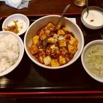 79473421 - 定食メニュ-(マ-ボ-豆腐)