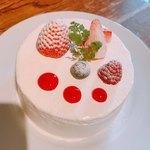 79474046 - いちごとホワイトチョコレートのショートケーキ 1200円