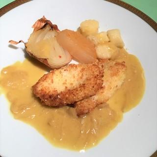 【週替】活鯛とポテトサラダのカツレツ北あかりのニョッキ添え