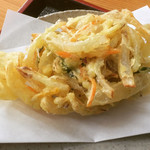 麺工房秋田 - 野菜かき揚げ