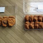 重盛永信堂 - 左:つぼ焼 480円 右:人形焼 1300円