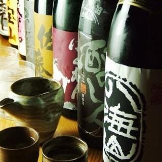 日本酒の取り揃え