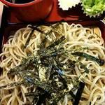 とよおか村 - 料理写真:十割そば  500円  ・ 海苔30円