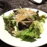 焼肉チャンピオン - ざぶすき御膳 3,800円 セットのサラダ