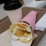 リルドーナッツ - 料理写真:ドーナツinクレープ キャラメルバナナカスタード生クリーム&コーヒー