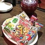 代々木ミルクホール - お通しの駄菓子セット(2人分)