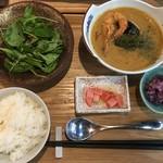 cafe & dining ぼたん - シーフードカレー1,200円 コーヒー(紅茶)付き