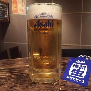 生ビールにもこだわりを!アサヒ樽詰め生ビール使用!