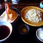 蕎麦処 多賀 - 天せいろそば1520円