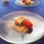 ルタン - リンゴのクラフティとイチゴのソルベ
