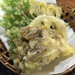 そば処 三之助 - 山菜天ぷら
