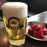 ろばた - ろばた(生ビール、かぶ漬)