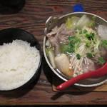 なにわ亭 - 【北新地でランチ】 ちゃんこ鍋 \850