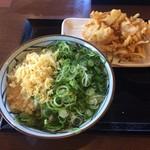 丸亀製麺 - かけ大、野菜かき揚げ