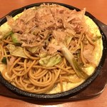 パスタデココ - 鉄板☆和風ねぎ豚炒めスパ