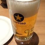 とんかつ工房 -  生ビール 470円