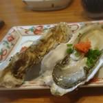 割烹あそ - 生牡蠣 400円 201801