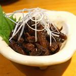 石臼挽き手打蕎楽亭 - 穴子の肝の佃煮