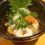 石臼挽き手打蕎楽亭 - 白子ポン酢