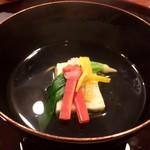 おかざき - 牡蠣真薯の清し汁