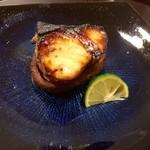 おかざき - 鰆味噌幽庵焼き、原木椎茸