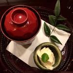 おかざき - お汁粉 柚子ジェラート