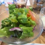 79514115 - ランチのサラダは野菜のグリーンサラダでした。