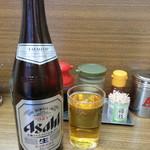 北海道ラーメン 来々軒 - 瓶ビール(中瓶)2018.1.14