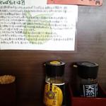 79514774 - テーブルセットのじゃばらと醤油