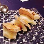 バール マツダ - フォアグラスモークと洋梨の冷製様