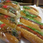 ロンシェール - 料理写真:焼きそばロ-ルホットドッグ