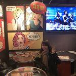 韓国屋台Mr.チージュ - チープな韓国風にノリノリでハマるわっち♪(;ω;)若いなー26才(;ω;)くそ〜負けてる!笑