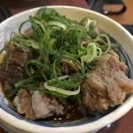 新世界 もつ鍋屋 - スジ肉ポン酢¥520