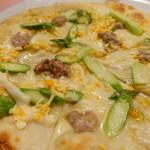 ピッツェリア・サバティーニ - モンタナーラ(アスパラガス・サルシッチャ)pizza