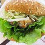 ドムドムハンバーガー - ドムフィッシュバーガー鯖タツタ360円。