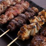 彩波 - 料理写真:上州豚の串焼5本盛り合わせ