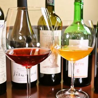 約20種類のグラスワイン