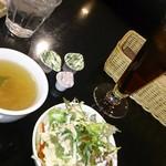 リラックスカフェ - アイスティー、サラダ、スープ