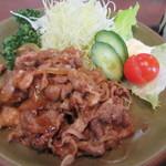 79536122 - 焼肉は豚小間切れ肉の醤油味炒め